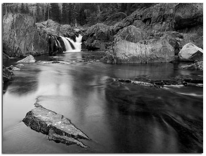 South Fork Yuba River Monochrome
